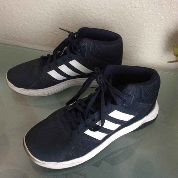 Adidas Navy Mens Basketball Sneakers Sz 7,5